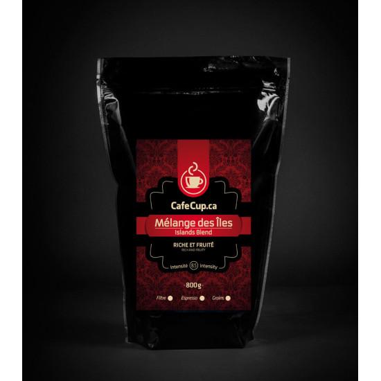 Mélange des Iles, café vrac, format  800g - achat en ligne