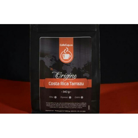 Café Costa Rica Tarrazu Origine | Café en vrac, format 340g | Intensité 8.0