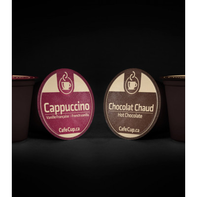 K-Cups Chocolat Chaud & Cappuccino Vanille française | Boîte découverte volupté