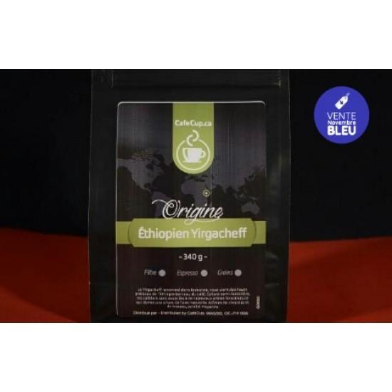 Café Éthiopien Yirgacheffe Origine | Café en vrac, format 340g | Intensité 8.0